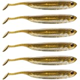 Dr.Fish 6 Pack Soft Body Swimbait Paddle Tail Soft Plastic Lure Shad Lure, Multiple Sizes Colors, Weedless Bass Crappie…