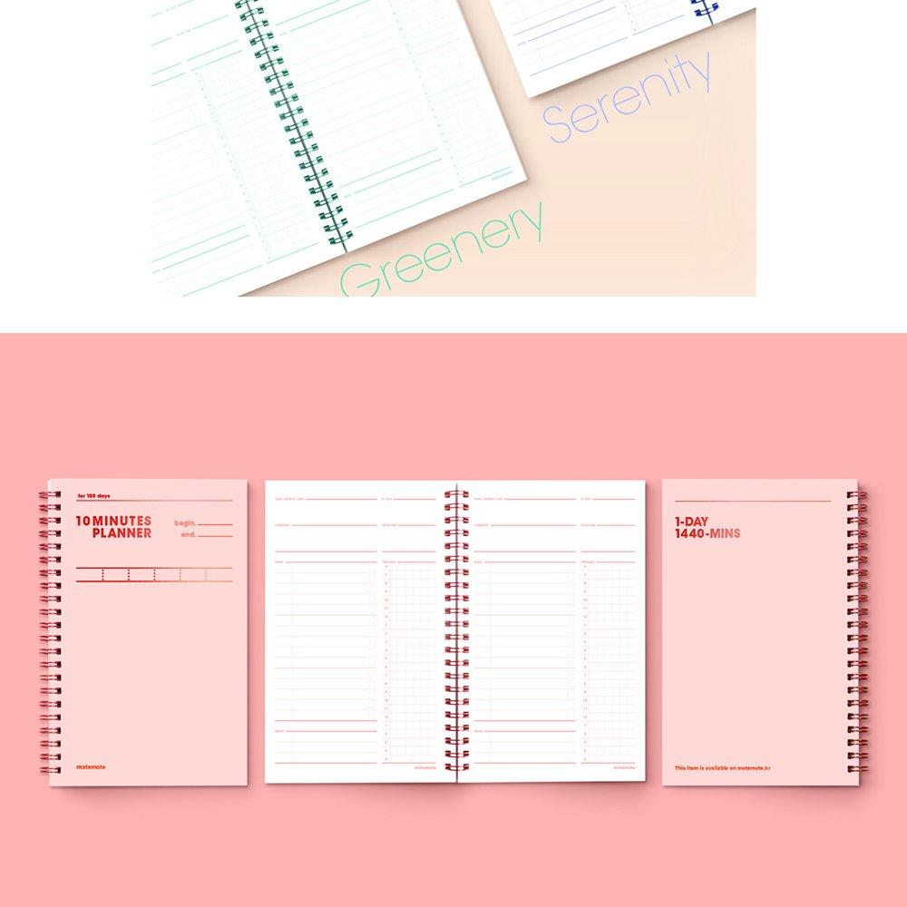 [MOTEMOTE] 10 Minutes Planner 100 DAYS Color Chip (Rosequartz) / study planner / planner