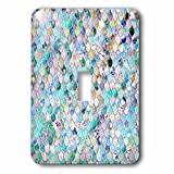 3dRose LSP_275455_1 Image of Small Blue Teal Luxury Elegant Mermaid Scales Glitter Toggle Switch,