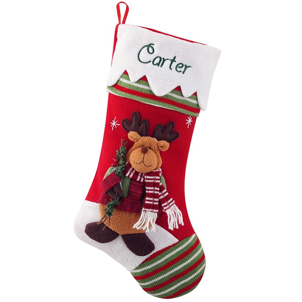 Personal Creations - Personalized Gifts Winter Wonderland Stocking - Moose