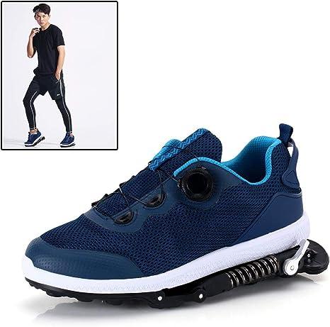 Grist CC Zapatillas Deportivas de Aire para Correr con Amortiguador de muelles,Zapatillas de Deporte para Correr Unisex Gym Fitness Ligero, Azul: Amazon.es: Deportes y aire libre