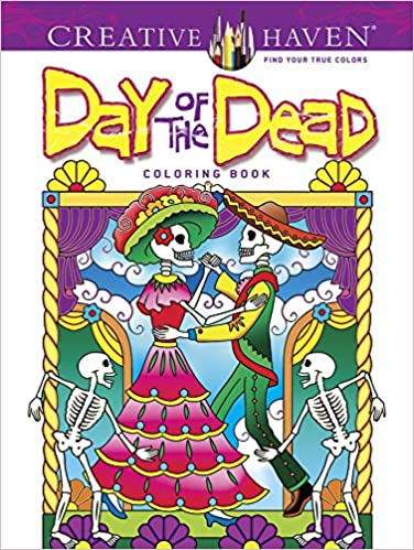 amazoncom creative haven day of the dead coloring book adult coloring 9780486492131 marty noble creative haven books - Day Of The Dead Coloring Book