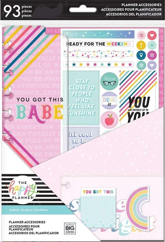 Student Happy Planner Big Full Sheet Fill Paper 40//Pkg-Notes Multi Stripe