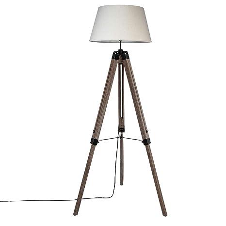 iDiffusion - Lámpara de pie trípode Madera Runo - H 145 cm ...
