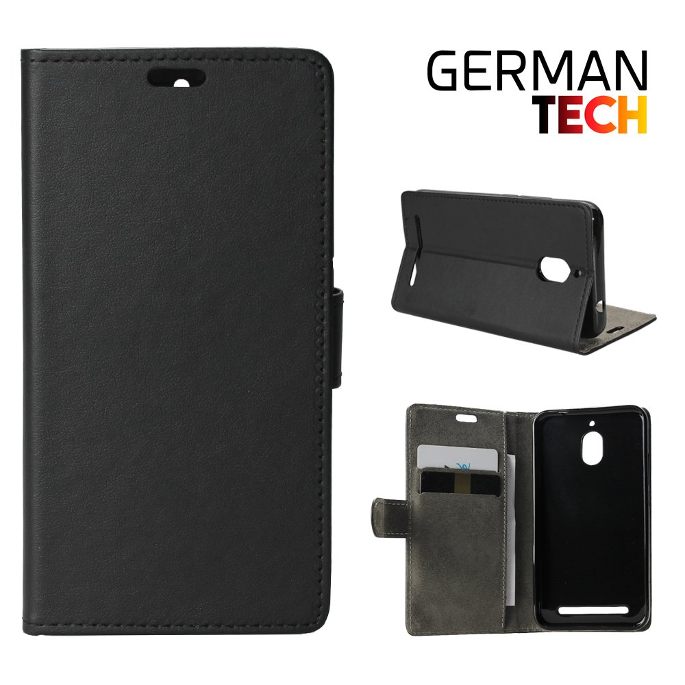 Blackberry Aurora Flip Cover Case Protects And Adapts Smart Flawlessly To Your Smartphone Viewing Stand German Tech Black