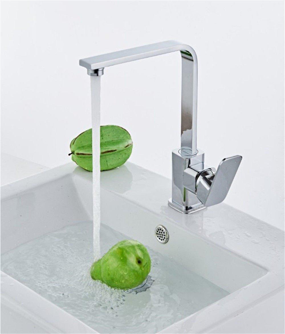ANNTYE Waschtischarmatur Bad Mischbatterie Badarmatur Waschbecken Messing Warmes und kaltes Wasser Ventil einzelne Bohrung Badezimmer Waschtischmischer