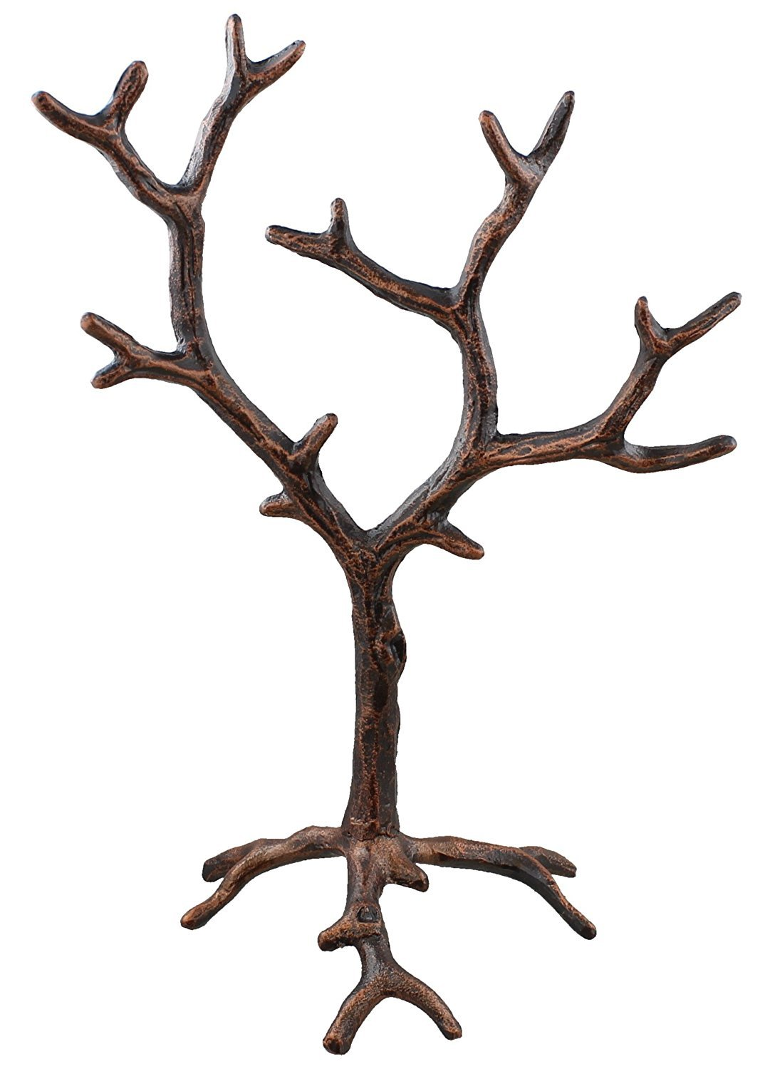 Solid Metal Jewelry Tree Display Stand / Decor Piece - Rustic Copper Finish Marco Int'l
