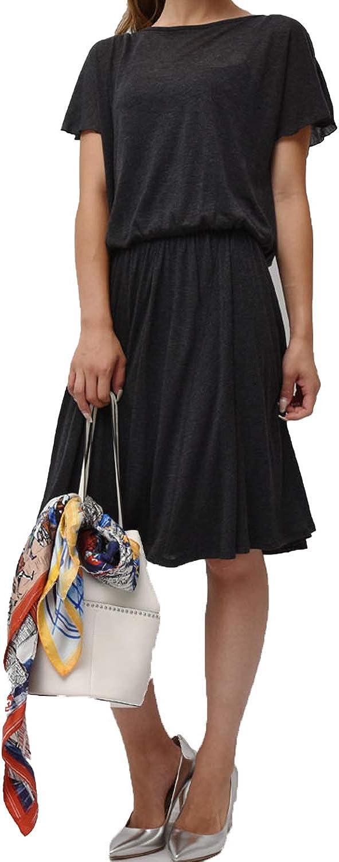 Three Dots Womens Open Back Knit Dress Charcoal Medium, Large