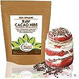 Puntas de Cacao Orgánicas Crudas (Nibs), Chocolate Negro Puro Vegano, Sin Azucares…