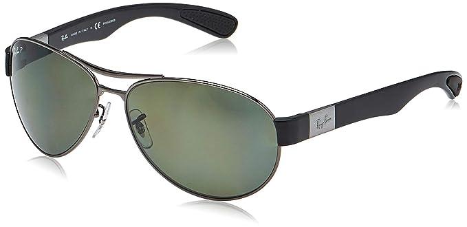 RAY-BAN 0RB3509 Gafas de sol, Gunmetal, 63 para Hombre