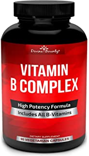Super B Complex Vitamins - All B Vitamins Including B12, B1, B2, B3