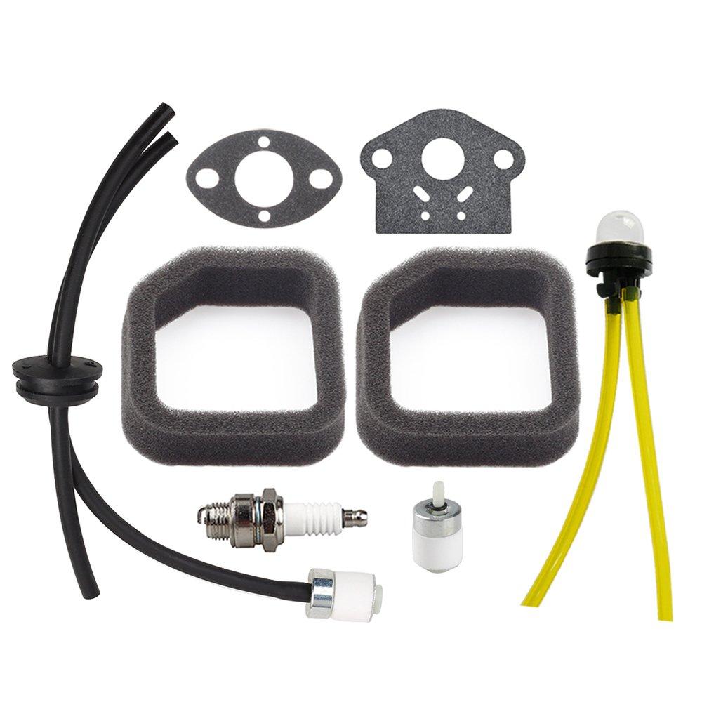 Panari (Pack of 2) Air Filter + Fuel Line Assembly Primer Bulb for Toro 51944 51945 51954 51955 51974 51975 String Trimmer