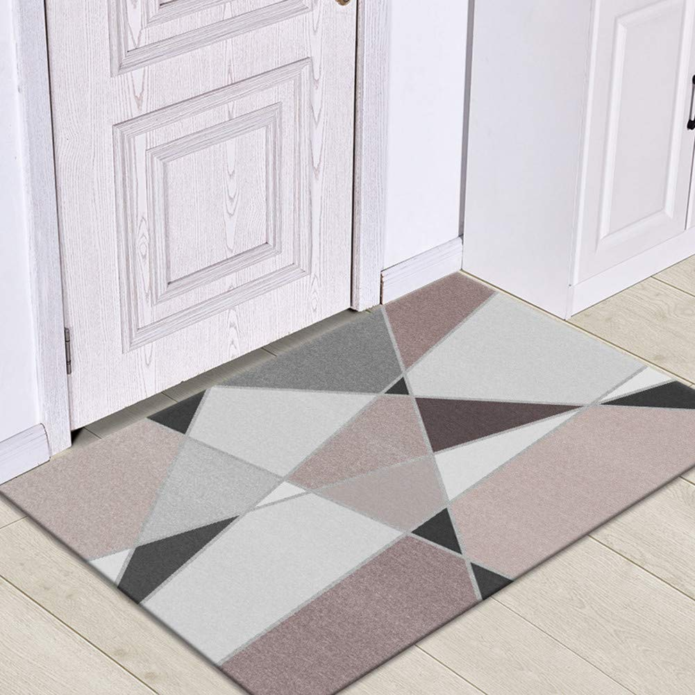 GeometryF 80x120cm(31x47inch) Door mat,Front Entrance Door mat Entrance Rug Low Profile Door mats Non-Slip mat Front Door mat-GeometryF 80x120cm(31x47inch)
