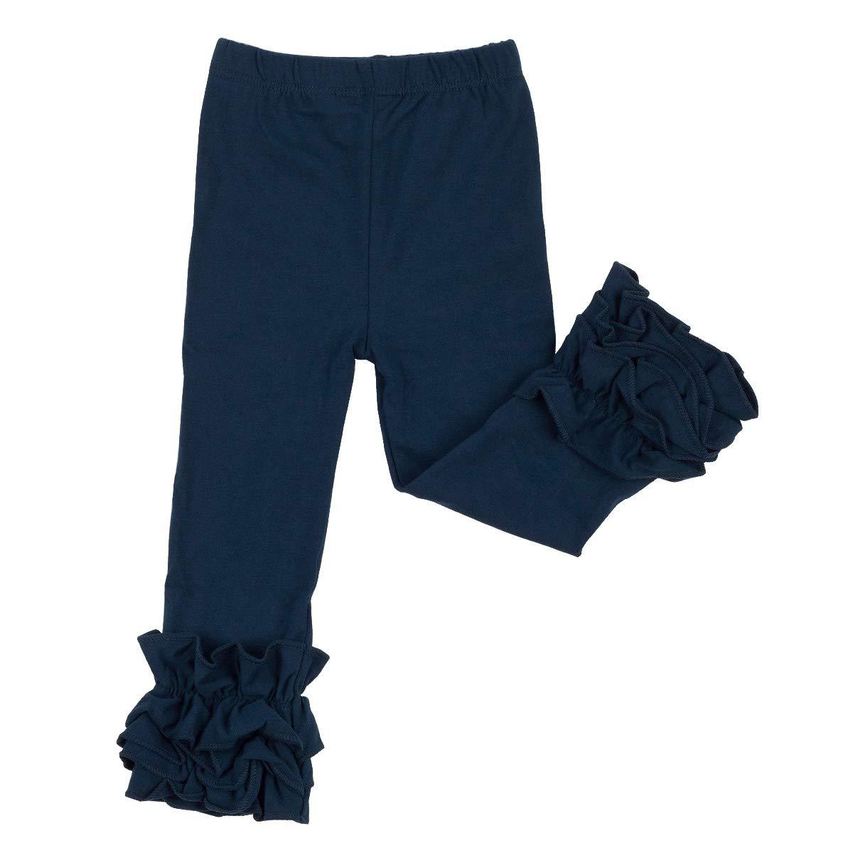 e4b403085e251 Slowera Little Girls' Ruffle Leggings Baby Toddler Solid Color Flower Pants  product image