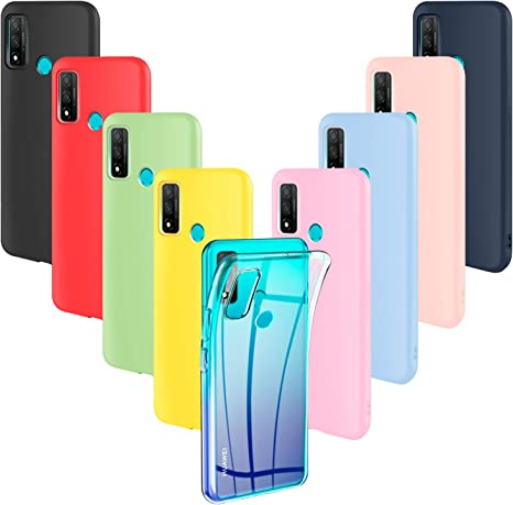 ivencase 9 × Funda Huawei P Smart 2020, Carcasa Fina TPU Flexible Cover  para Huawei P Smart 2020 (Rosa, Verde, Púrpura, Rosa Claro, Amarillo, Rojo,  Azul Oscuro, Translúcido, Negro): Amazon.es: Electrónica