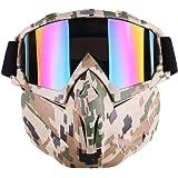 Gafas de moto Harley Style Mask Desgaste desmontable con gafas de sol de casco Gafas de