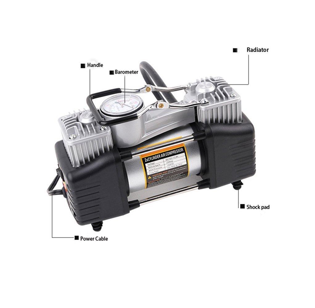 QAZWSX Bomba del Compresor De Aire del Cilindro Doble 12V con La Pantalla Digital Inflador Portátil De La Motocicleta del Neumático: Amazon.es: Deportes y ...