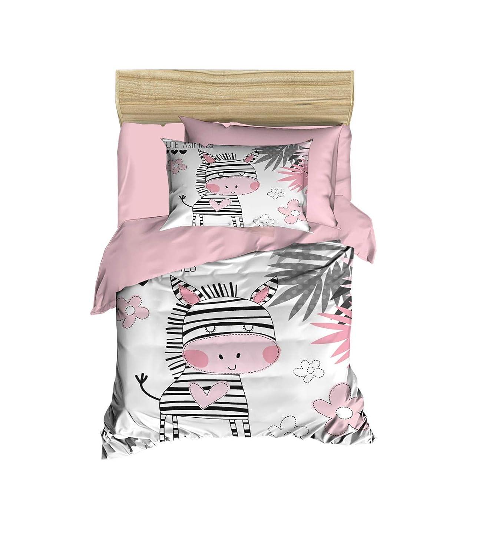 100% Cotton Kunst Bedding Zebra Themed Nursery Kunst Bett Set, Toddlers Crib Bedding für Kunst Girls, Duvet Abdeckung Satz mit Comforter, 5 Pieces