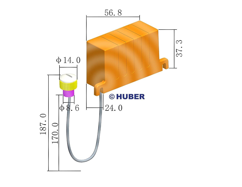 wei/ß einbau,D/ämmerungssensor einstellbar, D/ämmerungsschalter HUBER TWILIGHT 2