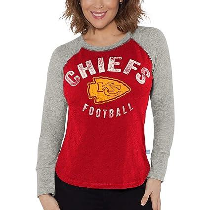 G-III Sports Kansas City Chiefs Women s Lay Up Long Sleeve Waffle Raglan T- dd1084a44