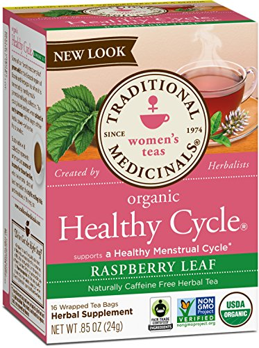 Traditional Medicinals Organic Healthy Cycle Raspberry Women's Tea, 16 Tea Bags (pack of 6) ()
