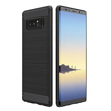 Simpeak Funda Compatible Samsung Galaxy Note 8 (6,3 Pulgadas), Funda Samsung Note 8 Carcasas Galaxy Note 8 Case Suave TPU Anti Deslizamiento, Negro