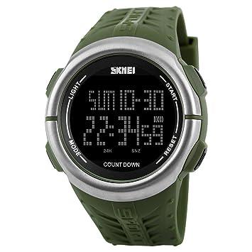 Reloj De Hombre Multifuncional, Impermeable, Deportes Al Aire Libre, Buceo - Negro Y