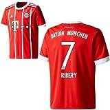 Adidas FC Bayern München FCB Home Trikot 2017 2018 mit Spieler Name rot