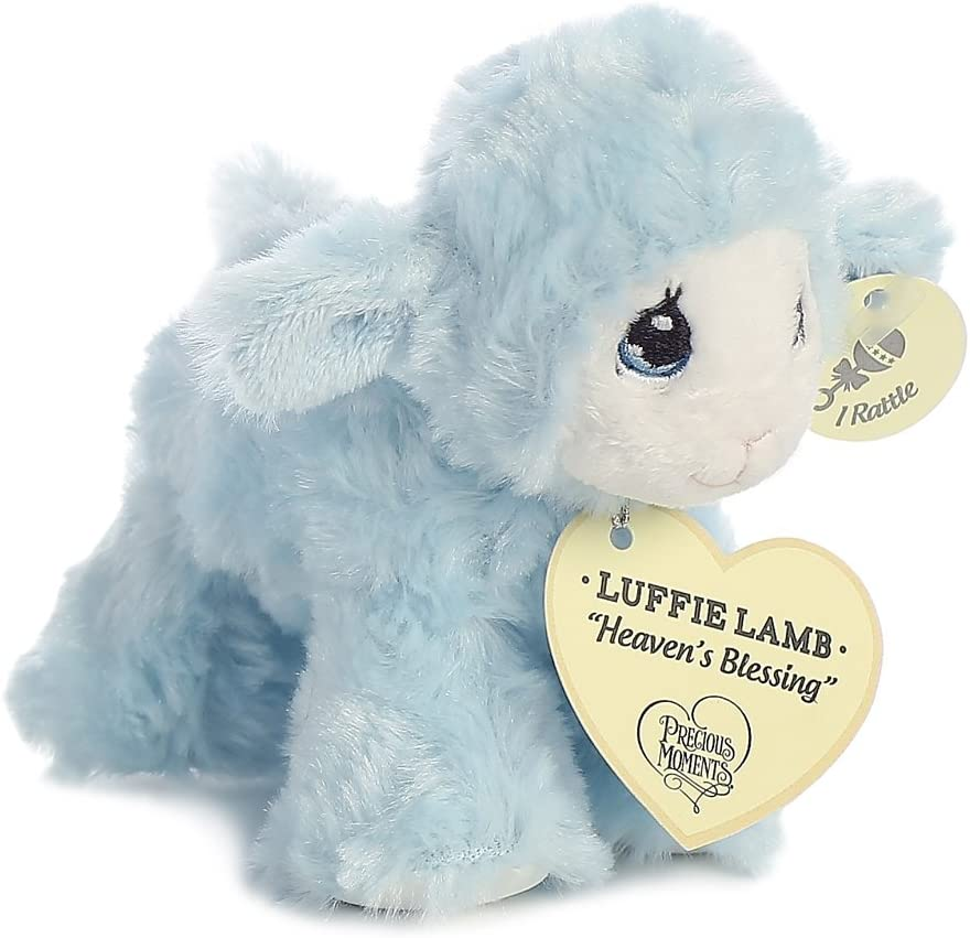 Blue Precious Moments Luffie Lamb Heavens Blessings Baby Rattle