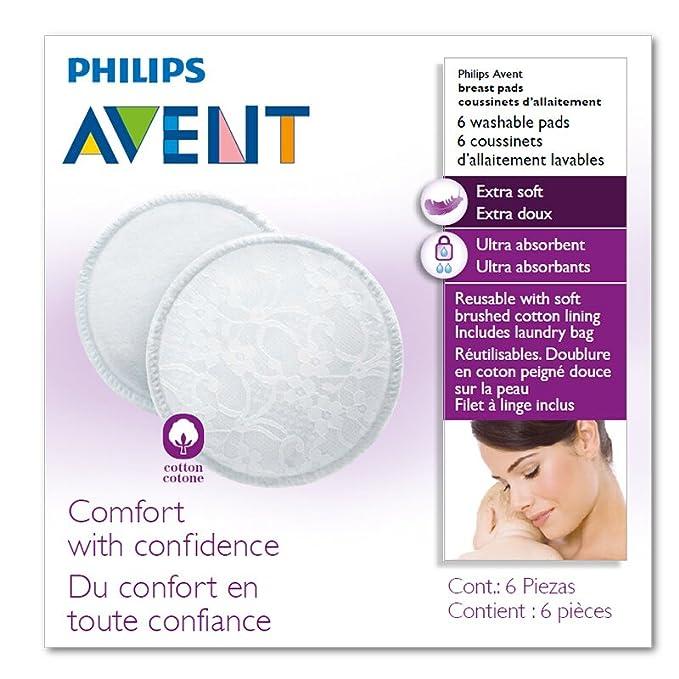 150 opinioni per Philips Avent SCF155/06 Coppette Assorbilatte Lavabili in Cotone