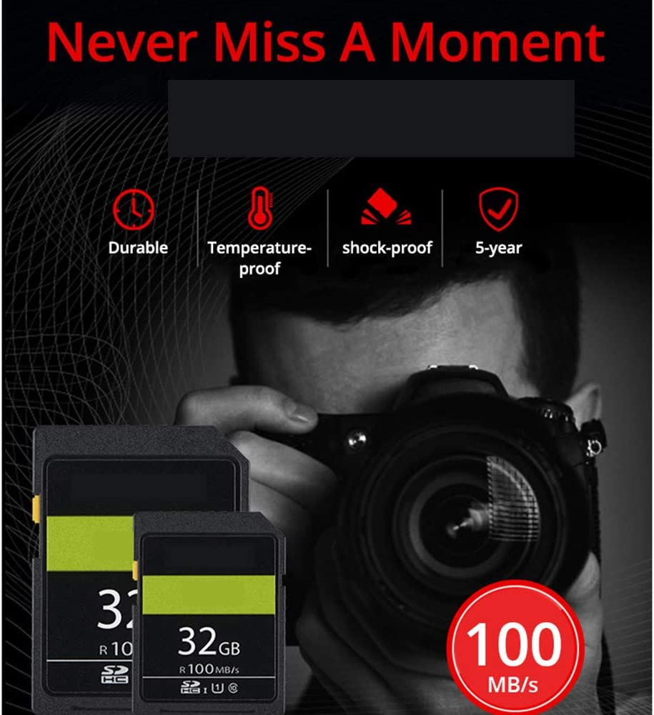 Aijin SD Card SDXC Memory Card U1 C10 UHS-I Full HD Video Recording 100MB//S for SLR Digital Camera,128GB
