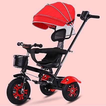 HAOJUN Bicicleta de Triciclo para Niños 3-6 Años de Edad Silla de Paseo Cochecito