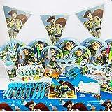90pcs/set Toy Story Theme Party Disposable Tableware Set Decoration Supplies