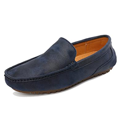 Men's Casual Closed Toe Leather Penny Loafers Driving Moccasins Shoes