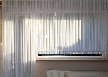 Amazon.de: Edle Blumenfenster Store Gardine 8cm Spitze Faltenband