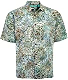 Artisan Outfitters Mendocino Batik Cotton Shirt New (Teal, XLT) AO118-1048-XLT