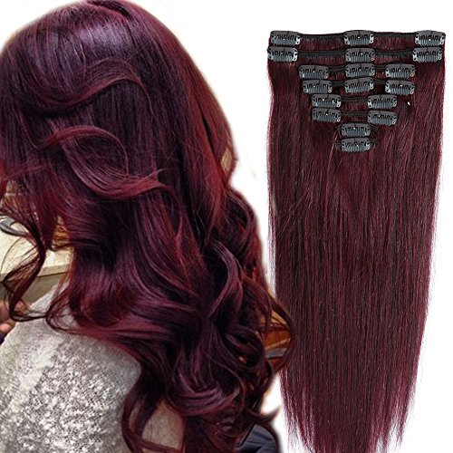 Extensions Quality Straight 18clips Burgundy product image
