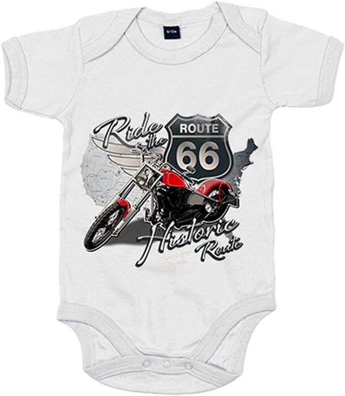 Body beb/é Ride The Route 66 motero Blanco 6-12 meses