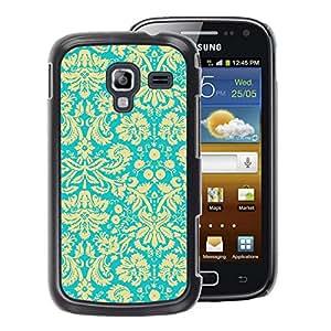 A-type Arte & diseño plástico duro Fundas Cover Cubre Hard Case Cover para Samsung Galaxy Ace 2 (Vintage Wallpaper Yellow Floral Pattern)
