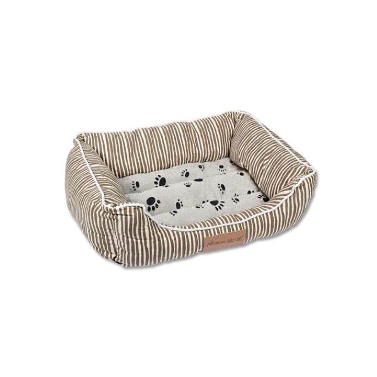 Brown bed M Brown bed M 8haowenju Dog Bed,Winter Cat Kennel Long-haired Pet Nest Deep Sleep Nest Teddy Small Medium Dog Bed Comfortable and Comfortable (color   Brown Bed, Size   M)