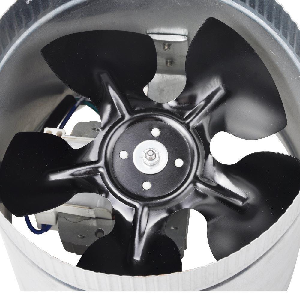 6'' 260 CFM Inline Duct Booster Vent Fan Blower Aluminum Blade