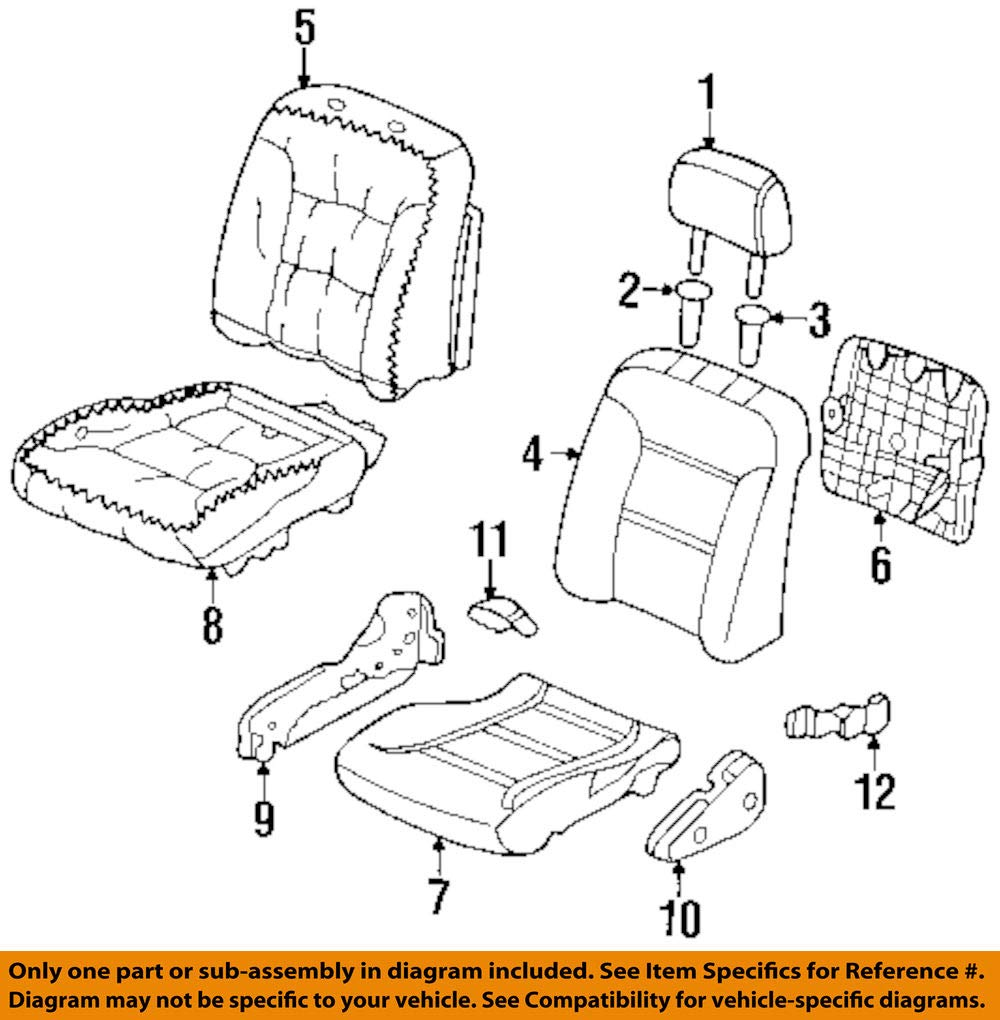 Honda Genuine 81131-SV1-L13ZA Seat Cushion Trim Cover Front Right