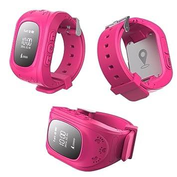 Cewaal Niños reloj inteligente Q50 niños SIM Muñequera GPS Tracker con Mic para niños Kids: Amazon.es: Electrónica
