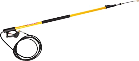 B E Pressure 85.206.424L Telescoping Wand, 4-Stage, 24' Length, 4000 psi, 200 Degree F, 8.0 GPM, Black/Yellow