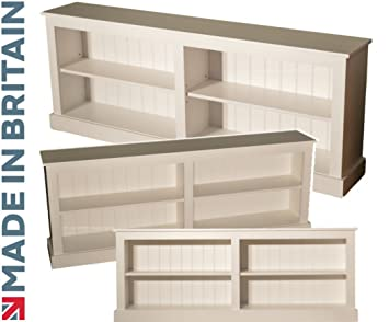 save off 60853 d95d0 Heartland Pine 100% Solid Wood Low Bookcase, White Painted ...