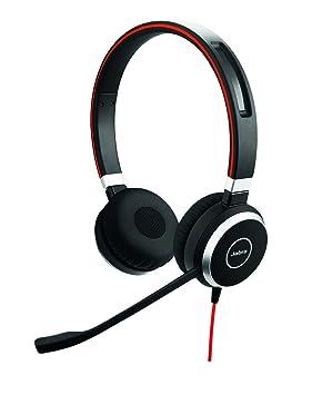 Jabra Evolve 40 MS Stereo Binaural Diadema Negro - Auriculares con micrófono (Centro de llamadas/Oficina, Binaural, Diadema, Negro, Digital, ...