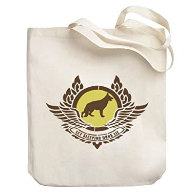 Teeburon German Shepherd LET SLEEPING DOGS LIE Canvas Tote Bag 30%OFF
