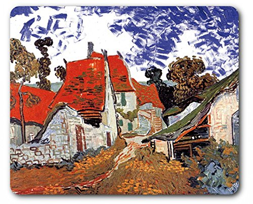 Vincent Van Gogh Mouse Pad - Street In Auvers Sur Oise, 1890 (9 x 7 - Outlet Street Village