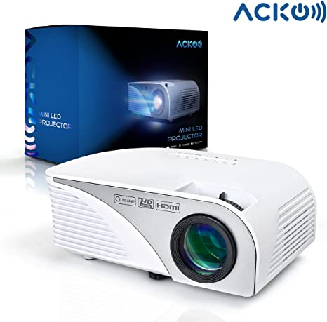 Mcwell Portable Mini HD LED Video Projector Office Home Theater 1200 LM Multimedia Outdoor 20