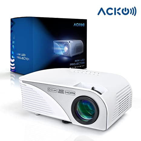 Amazon.com: Acko - Mini proyector de vídeo portátil HD LED ...